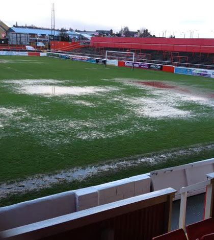 Groundstaff spend day on water clearance duties