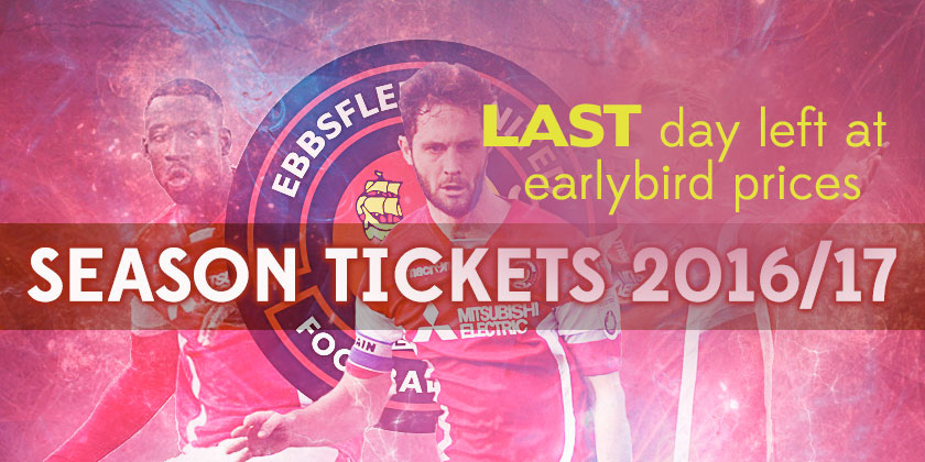 Last chance for earlybird tickets