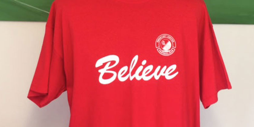 'Believe' T-shirts reduced in price