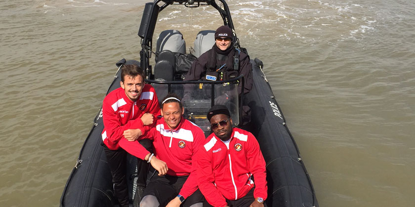 Nicked on the river! Fleet players get involved on the Thames