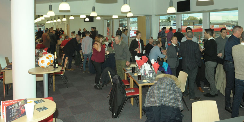 Space available in supporters' restaurant v Guiseley