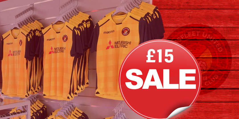 Final reduction on away shirts: when they're gone, they're gone!