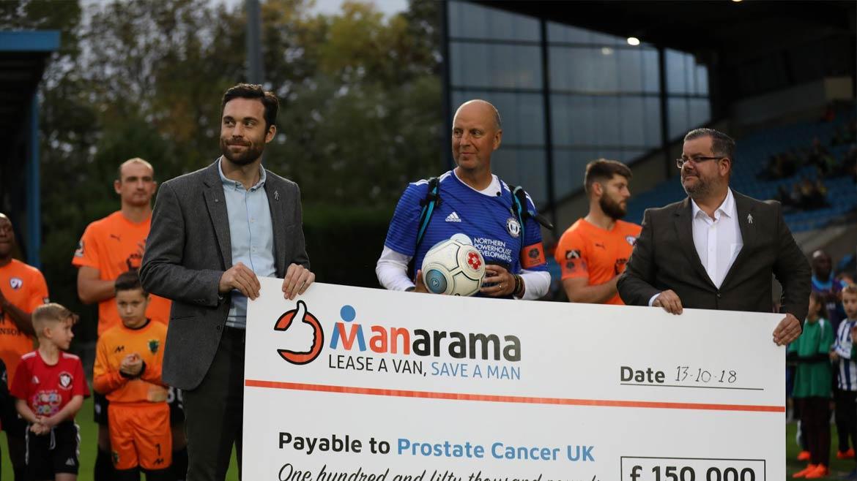 MANarama National League campaign raises £150,000 for Prostate Cancer UK