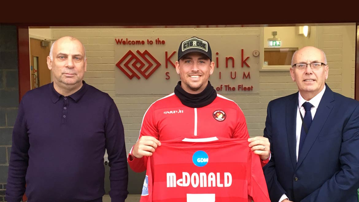 Fleet boss makes McDonald first new signing